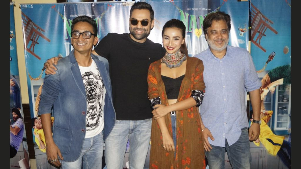 Abhay Deol along with the cast of 'Nanu Ki Jaanu' witnessed in New Delhi for promotions!