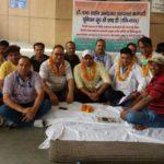 दिल्ली के बाबा साहेब अंबेडकर अस्पताल में ग्रुप C और D कर्मचारियों की भूख हड़ताल जारी।