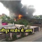 अलीपुर गार्डन में आग ।