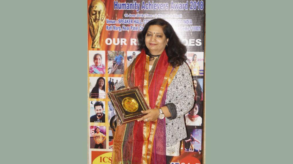 Usha Mishra, Managing Director of Effective communication awarded with Humanity Achievers Award!