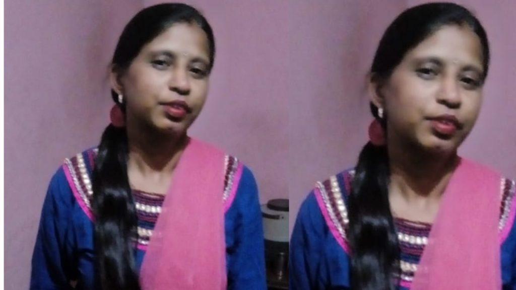Sangeeta Mritak Mahila Badmaso ki goli ki bhent chadh gai
