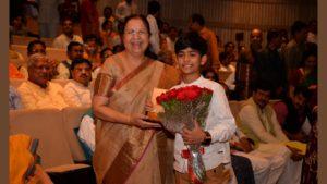 President Ram Nath Kovind along with V.President Venkaiah Naidu present at the screening of the film based on PM Modi