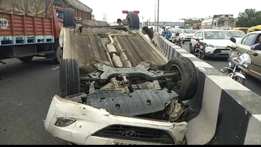 Outer Ring Road Accident. Elevated Road near Haidarpur