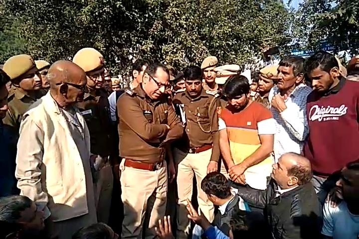 Monu Murder Case.. Protest Puthh Khurd Road