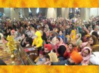 गुरुद्वारा श्री गुरु सिंह सभा राजौरी गार्डन में नववर्ष के मौके पर विशेष दीवान सजाये गये