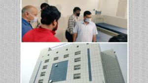 CM Arvind Kejriwal round buradi hospital