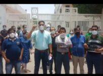 Pitampura protest at sachdeva school