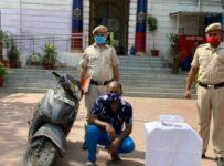 Sadar Bazar police arrested a criminal